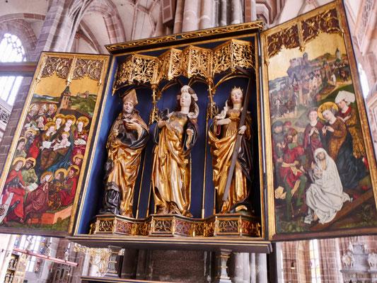 Altarbild St. Lorenzkirche Nürnberg Sehenswürdigkeiten Deutschland Nürnberg