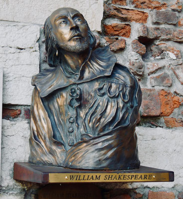 Shakespeare Büste in Verona