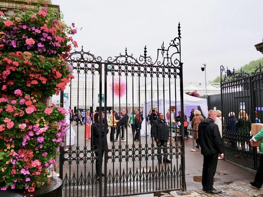 Eingang zur Chelsea Flower show