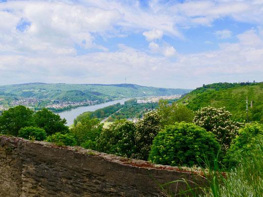 Blick von der Marksburg Braubach ins Rheintal