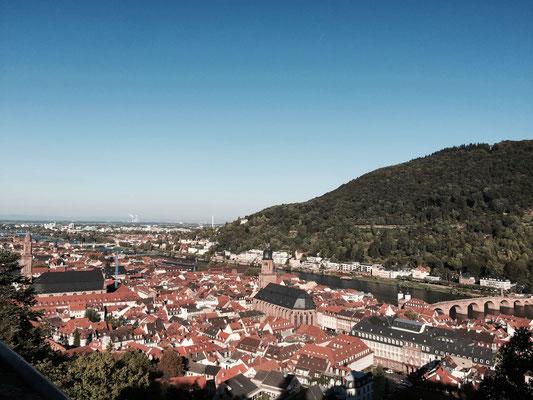 Stadtansicht Heidelberg am Neckar