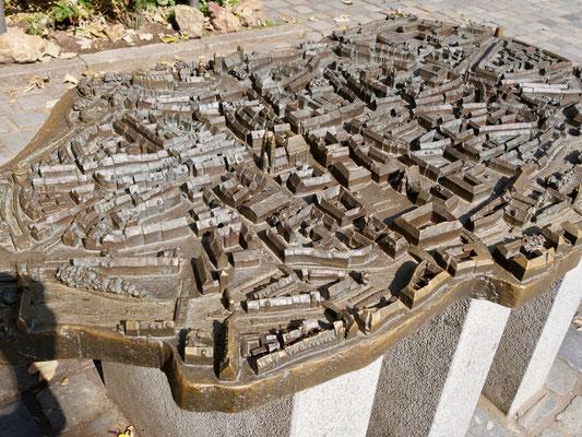 Bronzebild der Stadt Nürnberg Sehenswürdigkeiten Deutschland Nürnberg