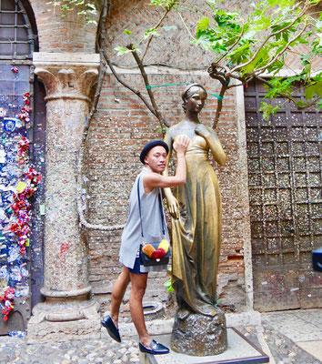 Verona, Bronzefigur der Julia