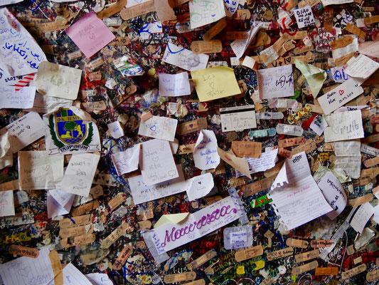 Liebesbotschaften im Haus der Julia in Verona