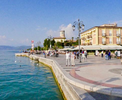 Lazise hat längste Marmor Promenade am Gardasee