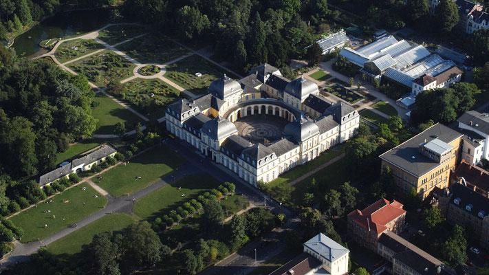 Luftaufnahme Bonn, Poppelsdorfer Schloss/ Wolkenkratzer
