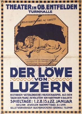 1911 Der Löwe von Luzern