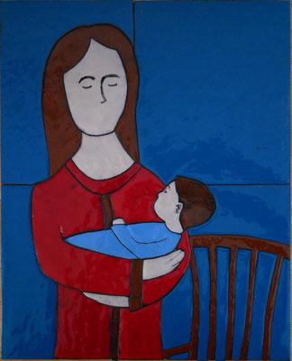 24x30 moeder kind 01 € 300
