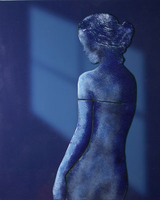 blauw naakt 24x30 cm verkocht