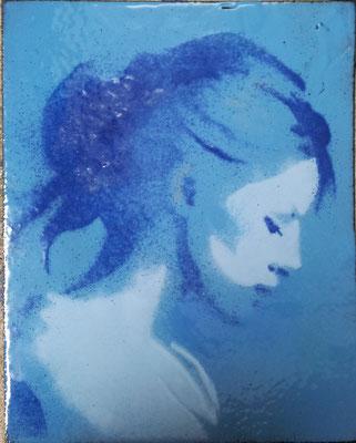 ong. 10x15 meisje blauw € 195