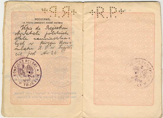 Passaporto polacco di Giacomo Nagler (Kubi) 1929 (pag. 5)