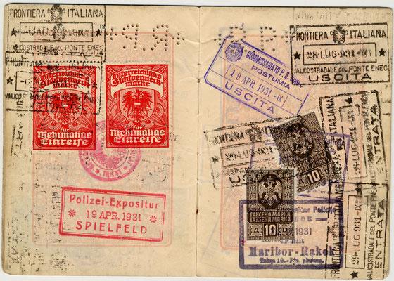 Passaporto polacco di Salo Nagler e Eige 1929 (pag. 7)
