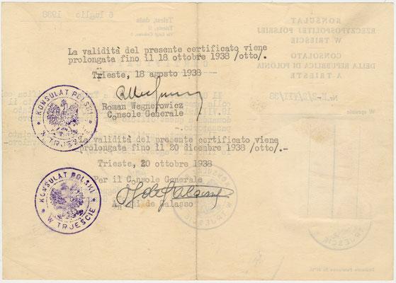 Konsulat polacco 06.07.1938 retro