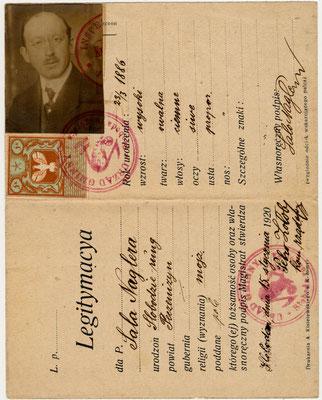 Legitymacya Salo 1920