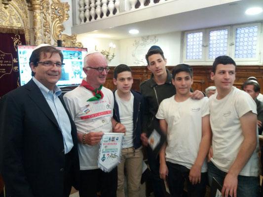 Con l'Ambasciatore d'Italia in Israele, Dott. Francesco Maria Talò