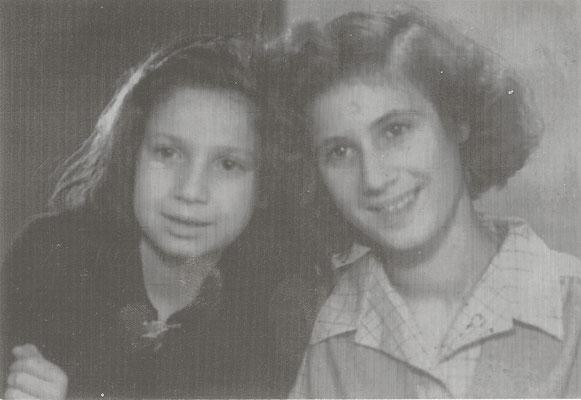 Miriam Hassid insieme a sua sorella Luisa