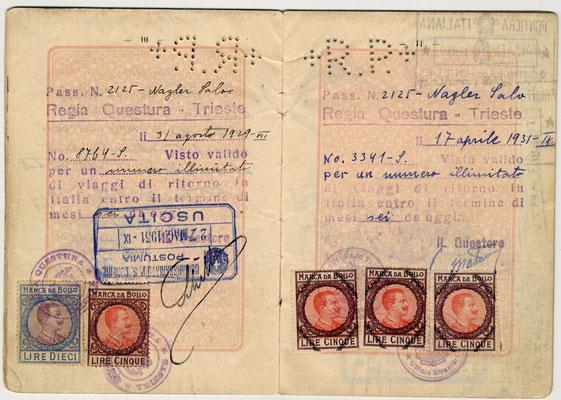 Passaporto polacco di Salo Nagler e Eige 1929 (pag. 6)
