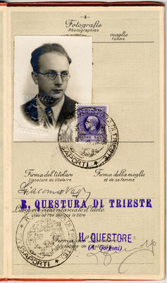 Passaporto apolide di Giacomo Nagler (Kubi) 2