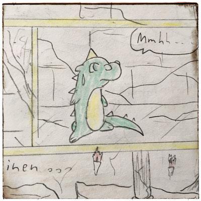 "Rökkvi in meiner damaligen Comic-Serie ""daemonis."""