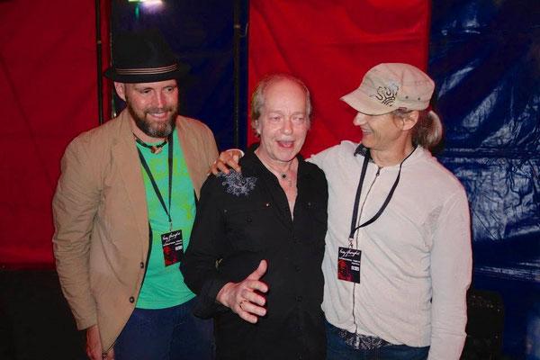 Ballyshannon mit Eric Bell/Thin Lizzy (m) und Ola van Sander/BAD PENNY (re)
