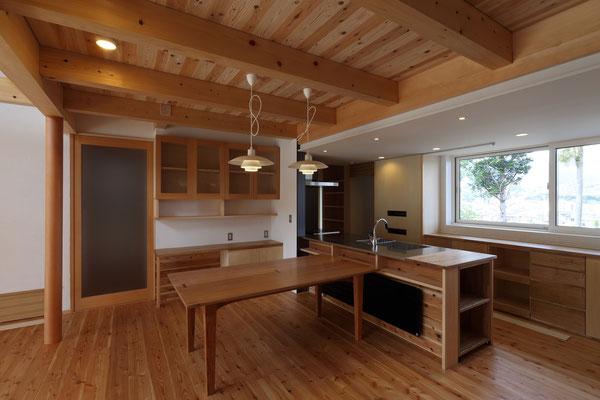 オープンキッチン(現場製作キッチン)