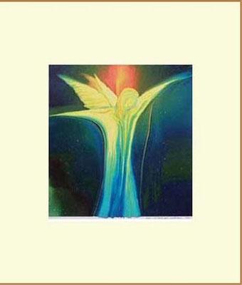 Nr.1  Blauer-Engel  Kunstdruck mit Karton-Passepartout, Farbton hellbeige, 60x50 cm oder 40x50 cm, signiert € 55,--  + Porto