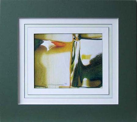 Nr. 2/03  Airbrush auf Spezialpapier Fin Art  50x45 cm inkl. Karton - Passepartout  Euro 220,-