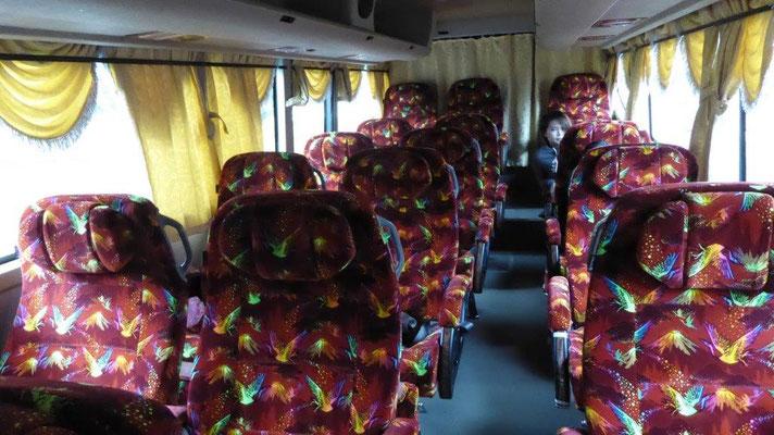 Bild: Mein komfortabler Bus von Kuala Lumpur nach Singapur von innen.
