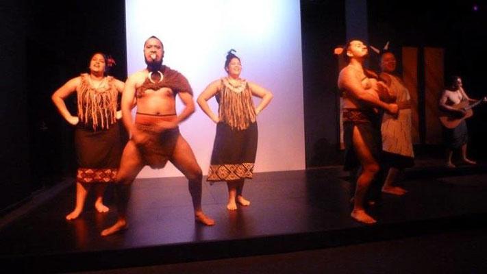 Bild: Begrüßung der Maoris in Neuseeland