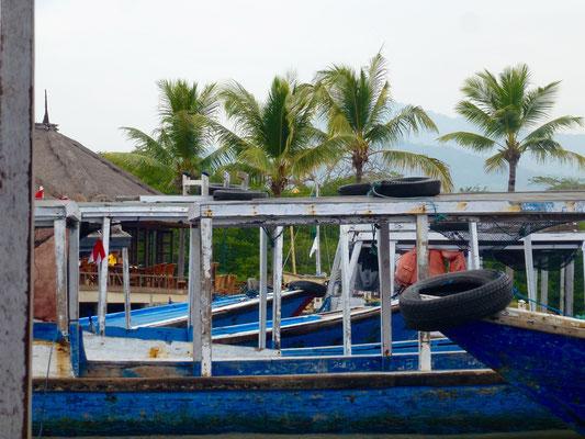 Bild: Boote und Palmen