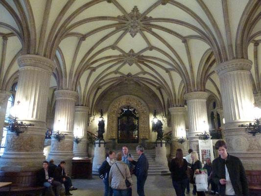Bild: Der Dielenaufgang des Rathauses