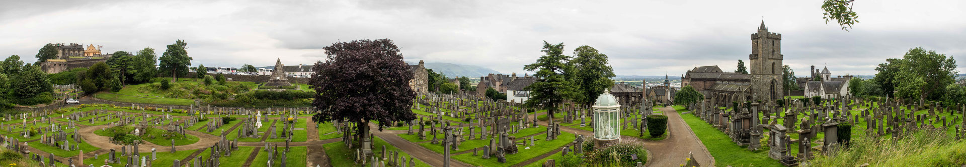 Bild: Stirling Alter Friedhof mit Castle und Holy Rude