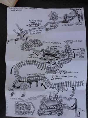 Bild: Karte der Wanderung