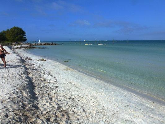 Einsamer Strand von Anna Maria Island