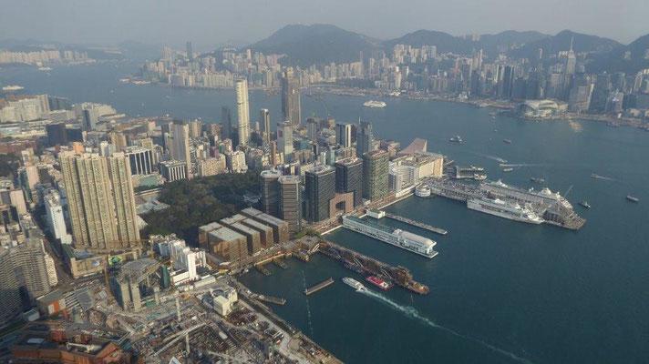 Bild: Blick auf Hongkong in 393 m Höhe