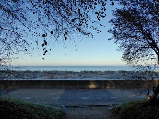 Bild: Blick aufs Meer vor unserem Hotel