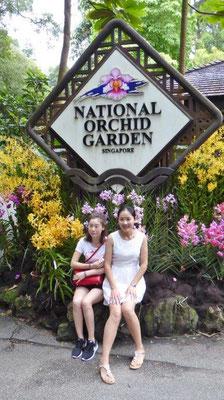 Bild: Eingang zum National Orchid Garden in Singapur