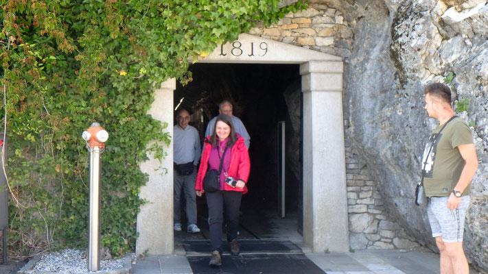 Der Ausgang der Höhle