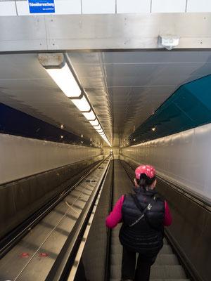 Bild: Die Rolltreppe im Fußgängertunnel