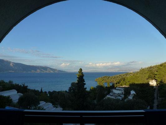 Bild: Blick vom Hotelbalkon