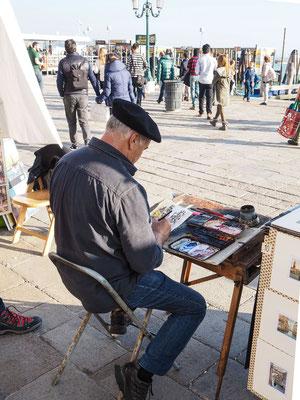 Bild: Künstler am Kai von Venedig