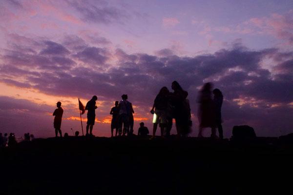 Bild: Der Wassertempel Puri Tanan beim Sonnenuntergang