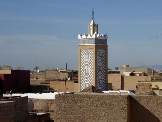 Bild: Blick über die Stadt Taroudant auf den Turm der Moschee