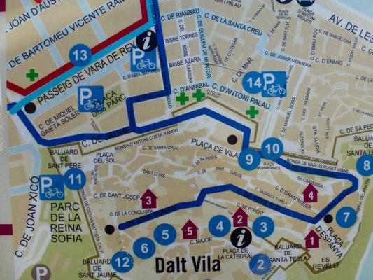 Bild: Karte der Altstadt von Daut Vila