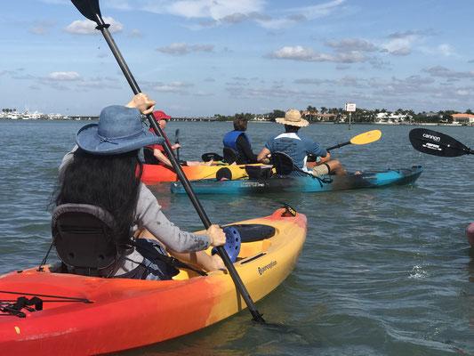Kayakfahrt auf dem Meer