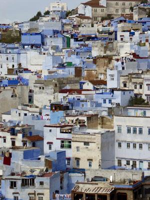 Bild: Blick auf die Blaue Stadt Chefchouen