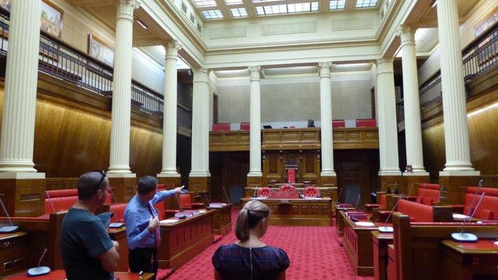 Bild: Im Parlament von Auckland