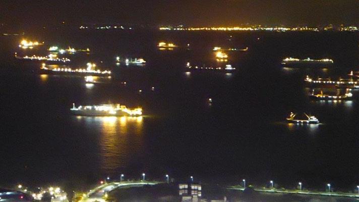 Bild: Die `Golden Garden Show`vom Observation Deck des Marina Bay Sands Hotel in Singapur