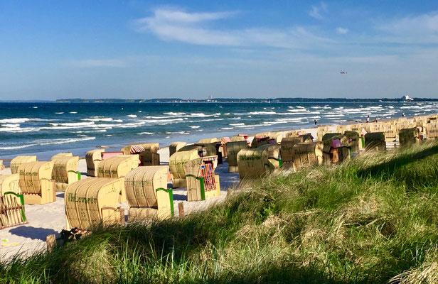 Strandkörbe am Strand von Scharbeutz
