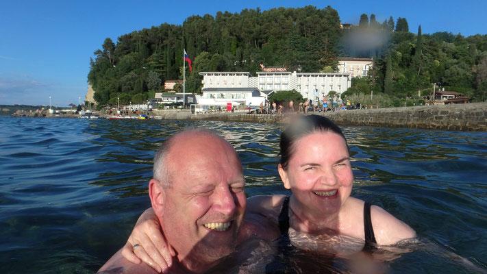 Erfrischendes Bad in der Adria